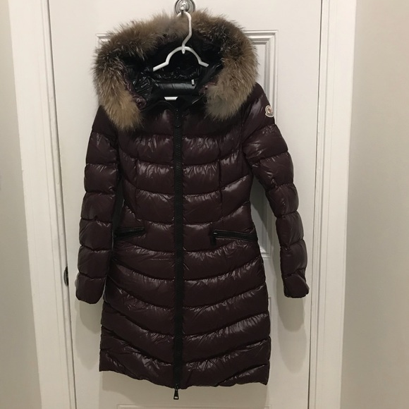 Moncler Aphia Quilted Down Coat Frost Fox Fur 0